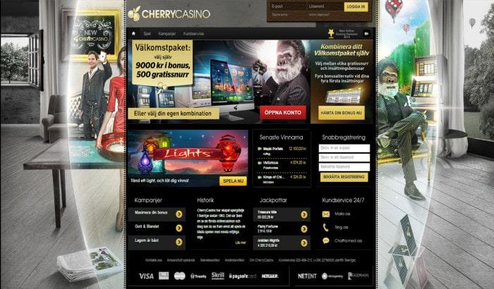 cherry casino ledning