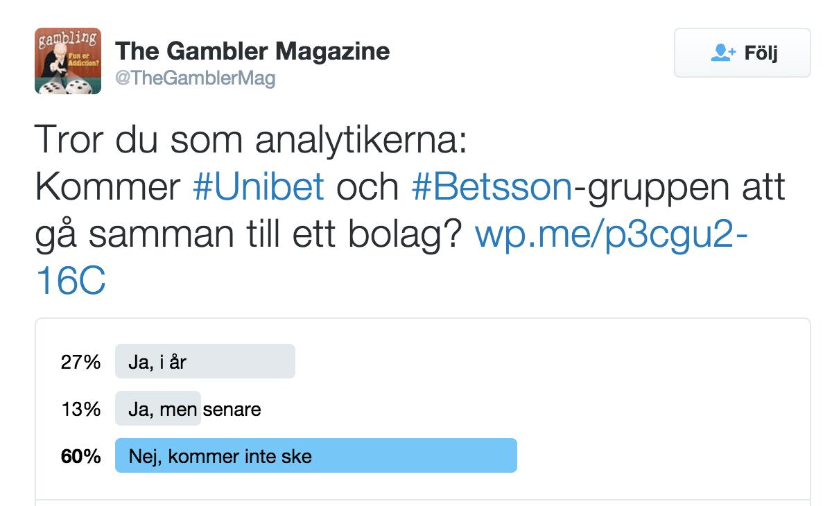 The Gambler Magazines följare höll inte med analytikerna.
