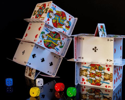 kortlek korthus spelkort