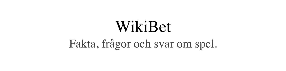 wikibet