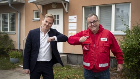 Paf CEO Christer Fahlstedt & Red Cross manager Tomas Urvas